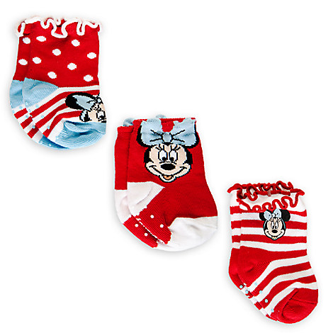 Minnie Mouse Sock Set for Baby - 3-Pack