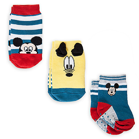Mickey Mouse and Pluto Sock Set for Baby - 3-Pack