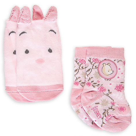 Winnie the Pooh Sock Set for Baby - 2-Pack - Girls