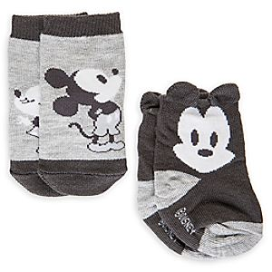 Mickey and Minnie Mouse Sock Set for Baby  -  2 - Pack