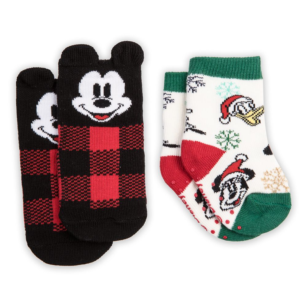 Mickey Mouse and Friends Holiday Sock Set for Baby