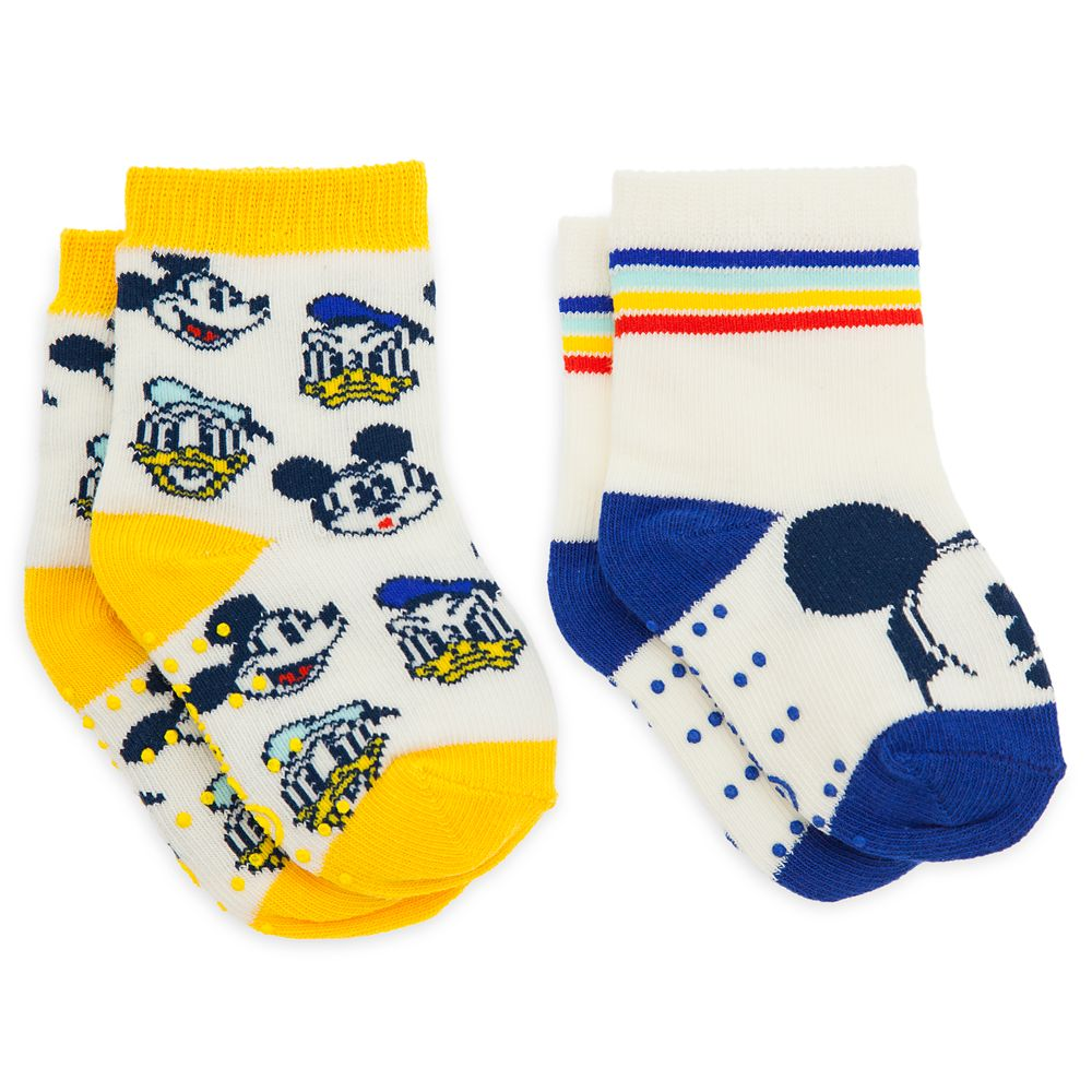 Mickey Mouse and Donald Duck Sock Set for Baby