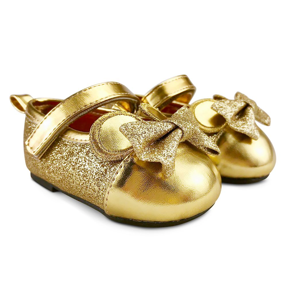 Minnie Mouse Gold Dress Shoes for Baby