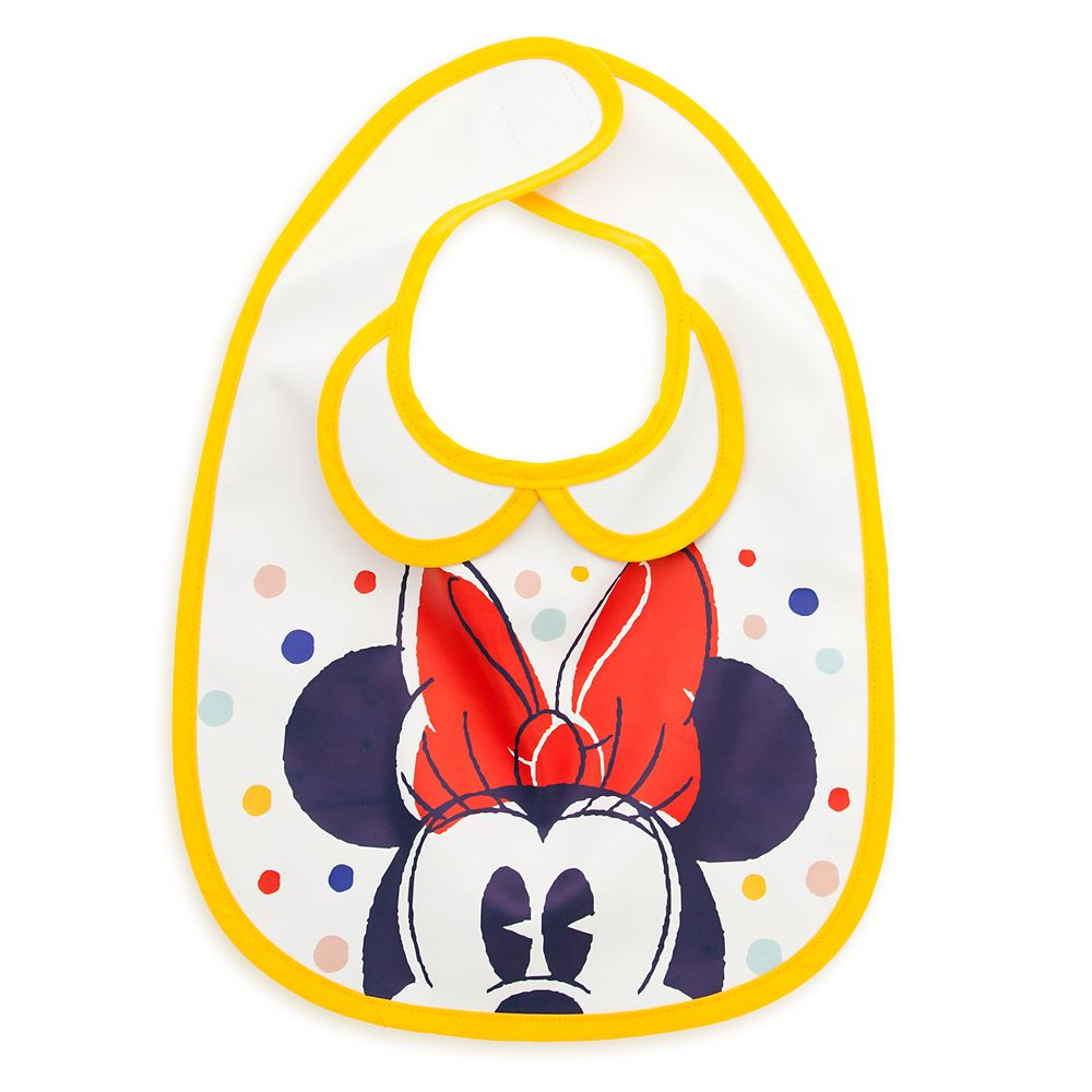 Minnie Mouse Collared Bib for Baby