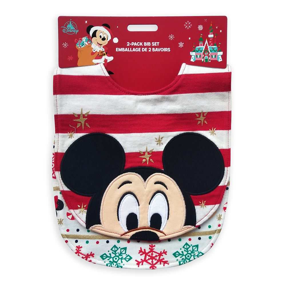 Mickey Mouse and Friends Holiday Bib Set for Baby