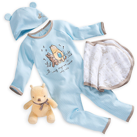 Winnie the Pooh Layette Gift Set for Baby Blue