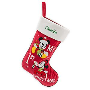 Mickey and Minnie Mouse My 1st Christmas Stocking - Personalizable