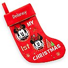 Mickey and Minnie Mouse ''My 1st'' Holiday Stocking - Personalizable