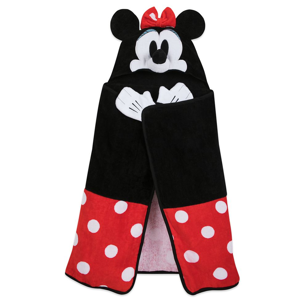 Minnie Mouse Hooded Towel for Baby – Personalized
