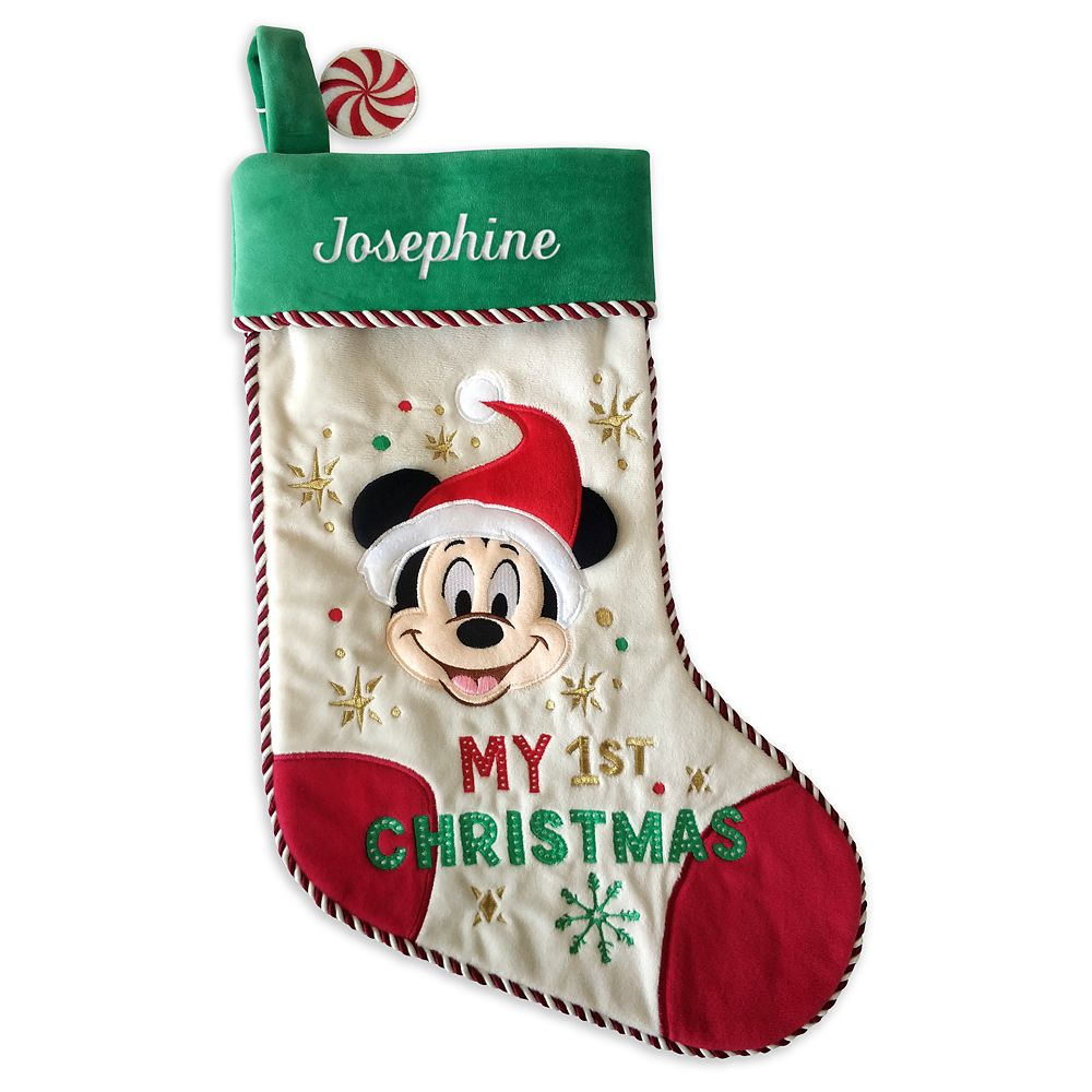 Mickey Mouse ''My 1st Christmas'' Holiday Stocking for Baby – Personalizable