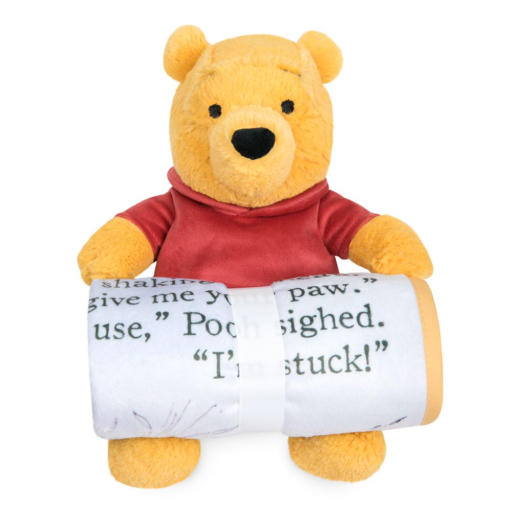 Winnie the Pooh Plush and Blanket Gift Set for Baby