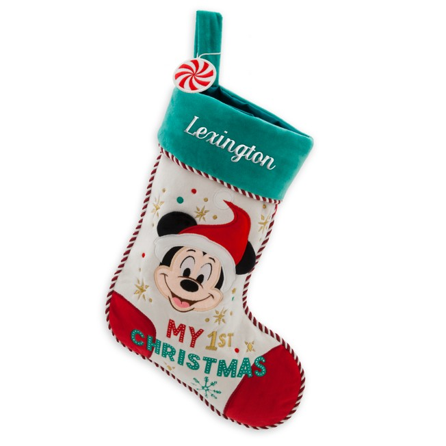 Mickey Mouse ''My 1st Christmas'' Stocking for Baby – Personalizable