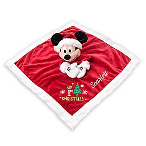 Mickey Mouse My First Christmas Plush Blankie for Baby