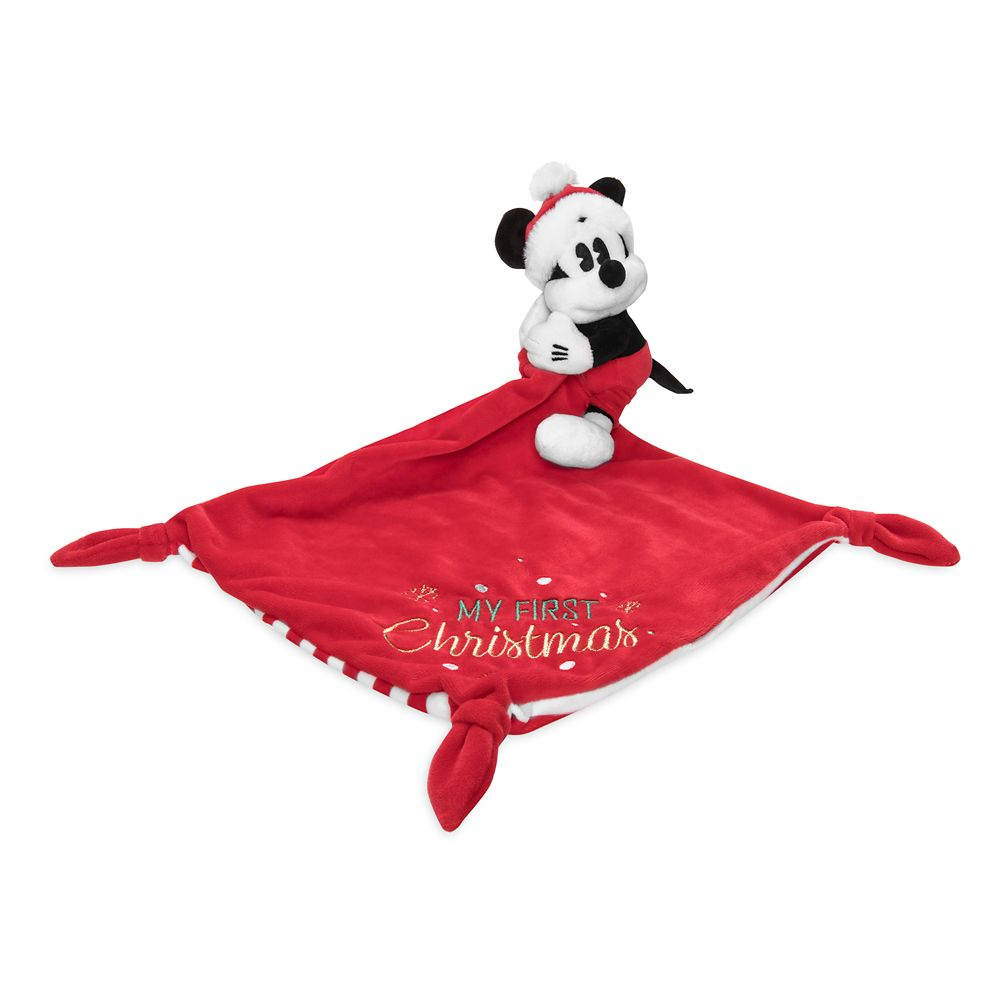 Mickey Mouse ''My First Christmas'' Plush Blankie for Baby