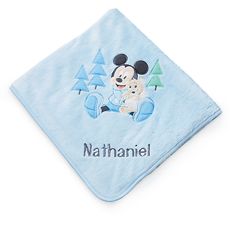 Mickey Mouse Layette Blanket for Baby - Personalizable
