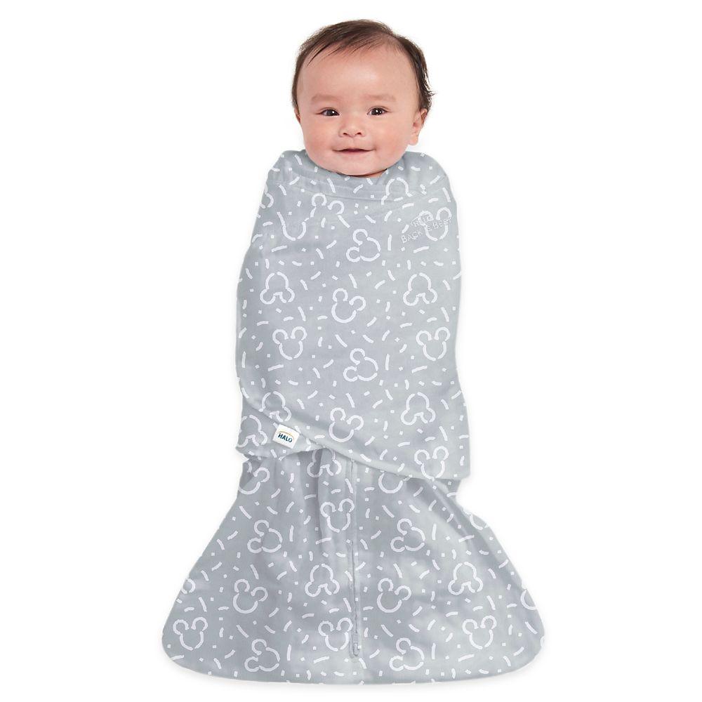 Mickey Mouse HALO SleepSack Swaddle for Baby – Gray
