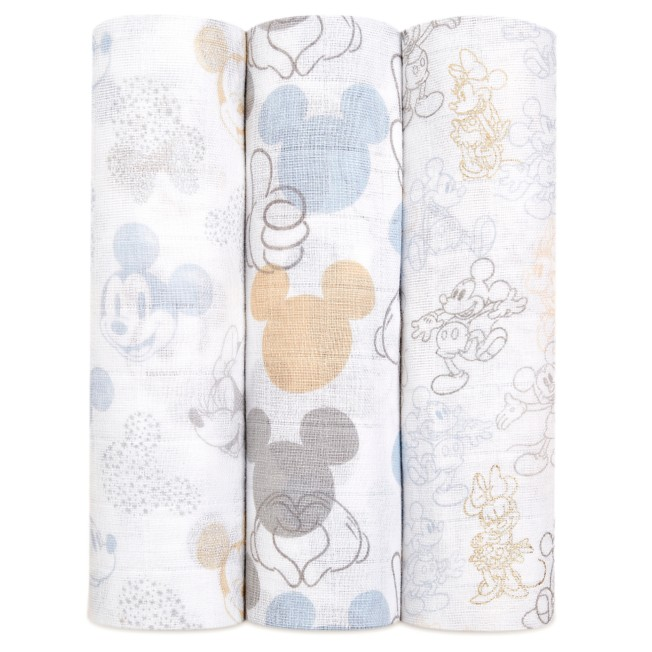 Mickey and MInnie Mouse Swaddle Set for Baby by aden + anais®