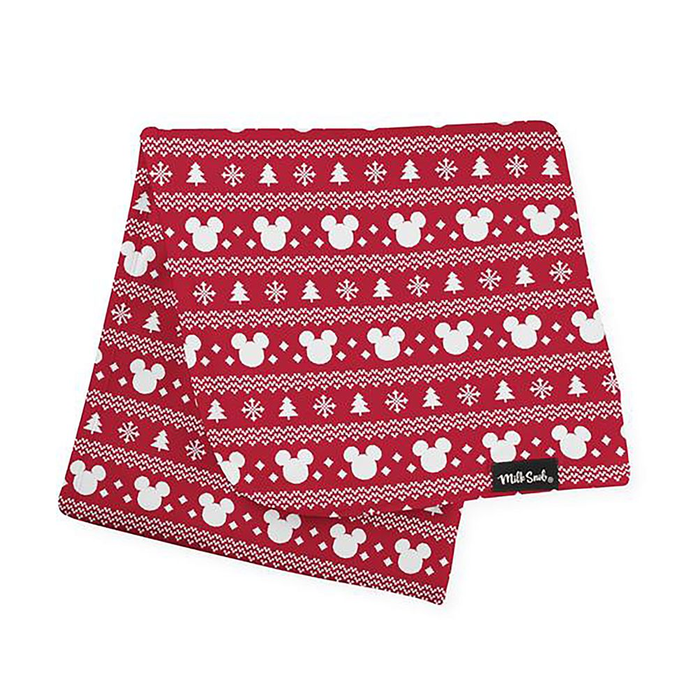 Mickey Mouse Icon Holiday Baby Blanket by Milk Snob