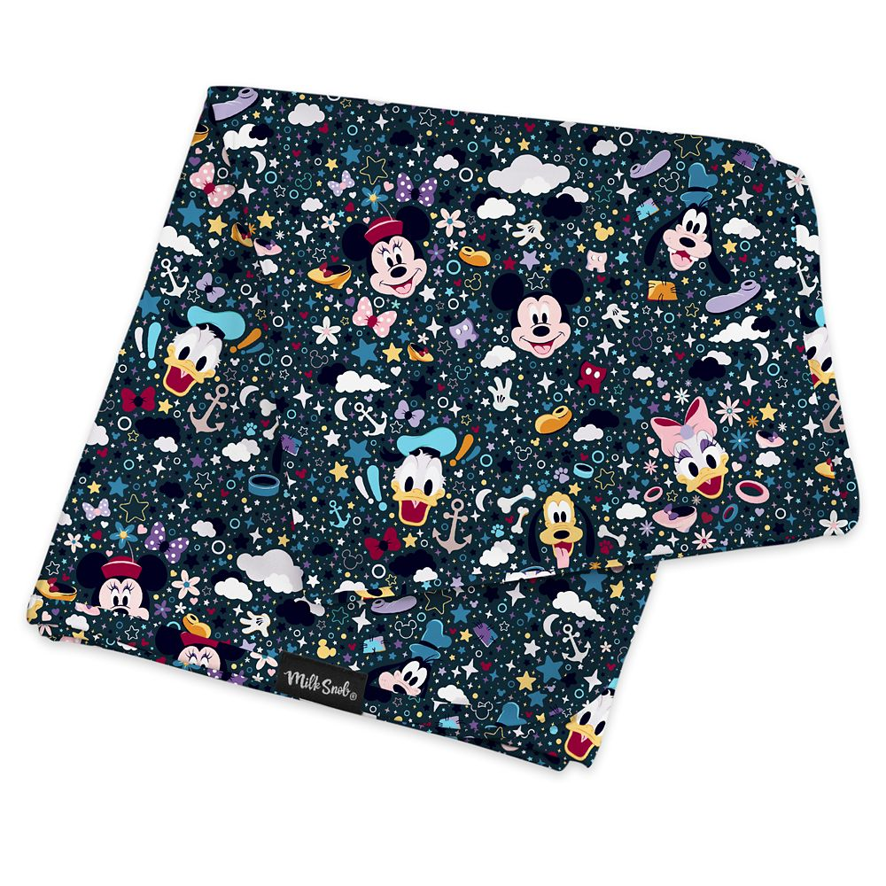 Mickey Mouse and Friends Baby Blanket by Milk Snob
