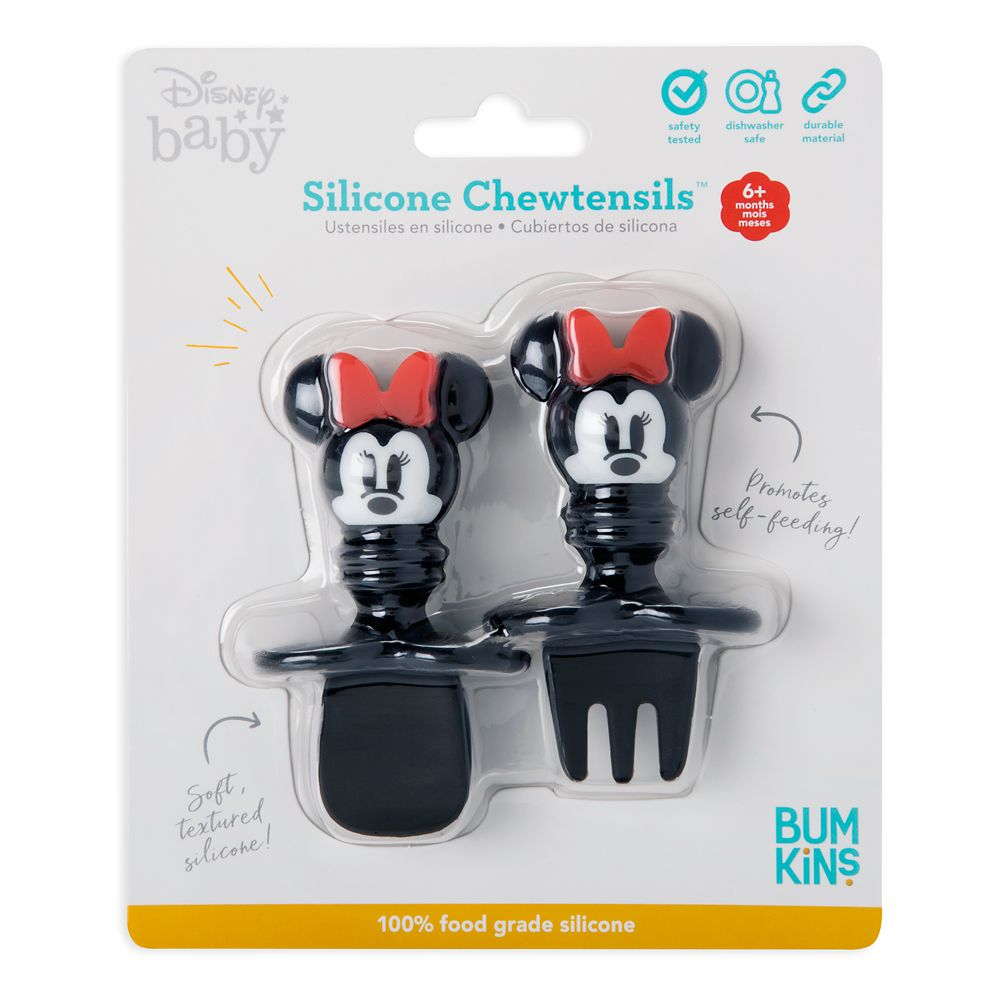 Minnie Mouse Silicone Chewtensils for Baby by Bumkins