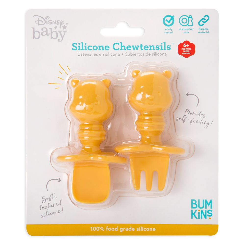 Winnie the Pooh Silicone Chewtensils for Baby by Bumkins