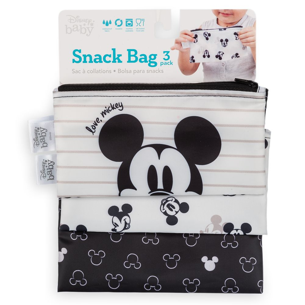 Mickey Mouse Snack Bag Set for Baby by Bumkins