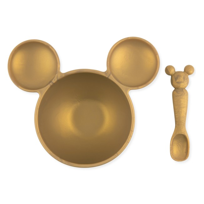 Mickey Mouse First Feeding Set by Bumkins – Gold