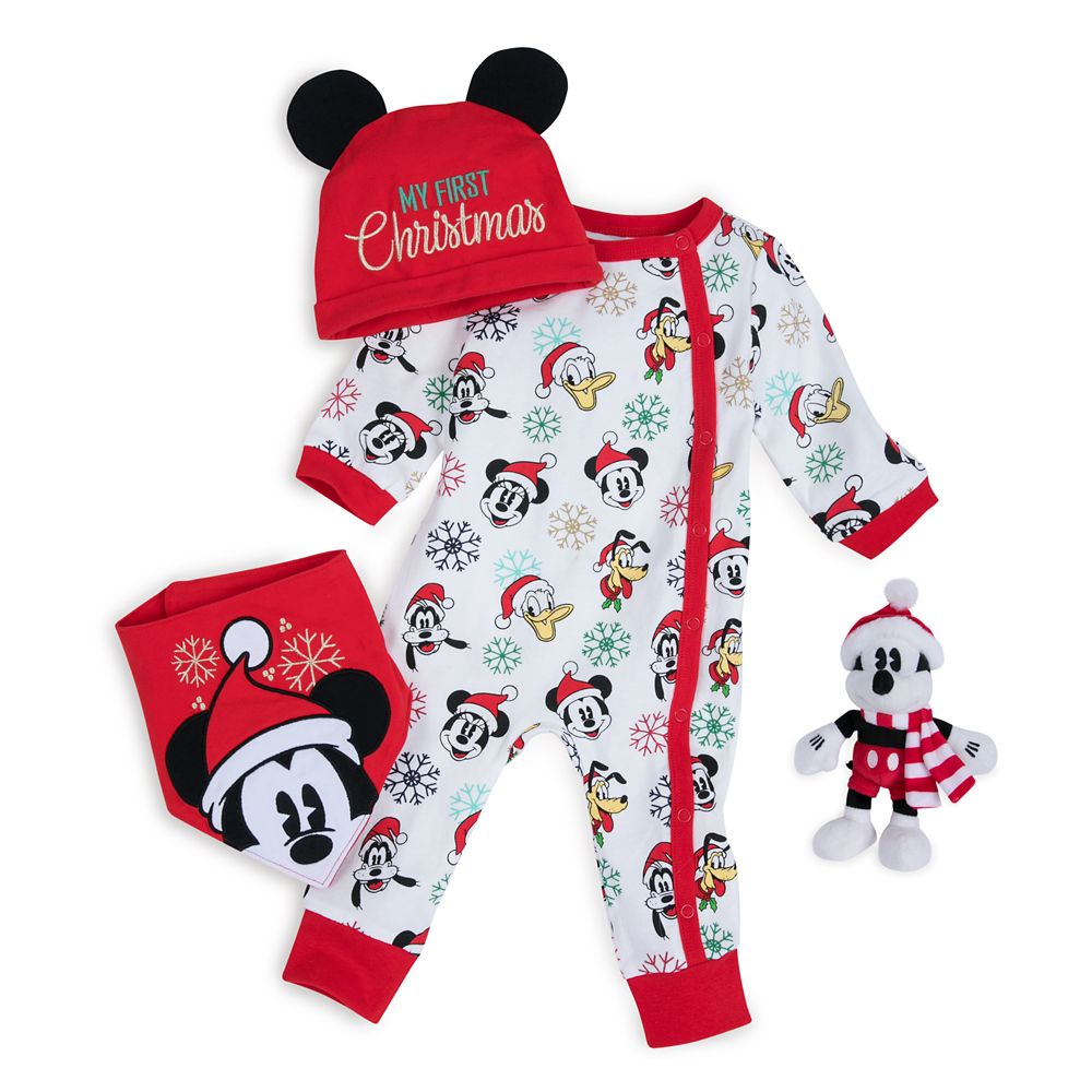 Mickey Mouse and Friends My First Christmas Gift Set for Baby