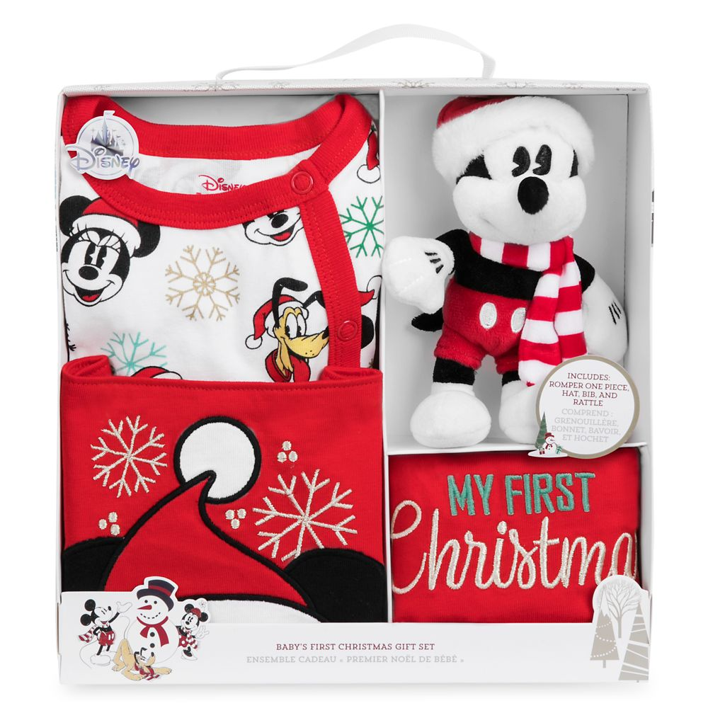 Christmas Gift Box.Mickey Mouse And Friends My First Christmas Gift Set For Baby