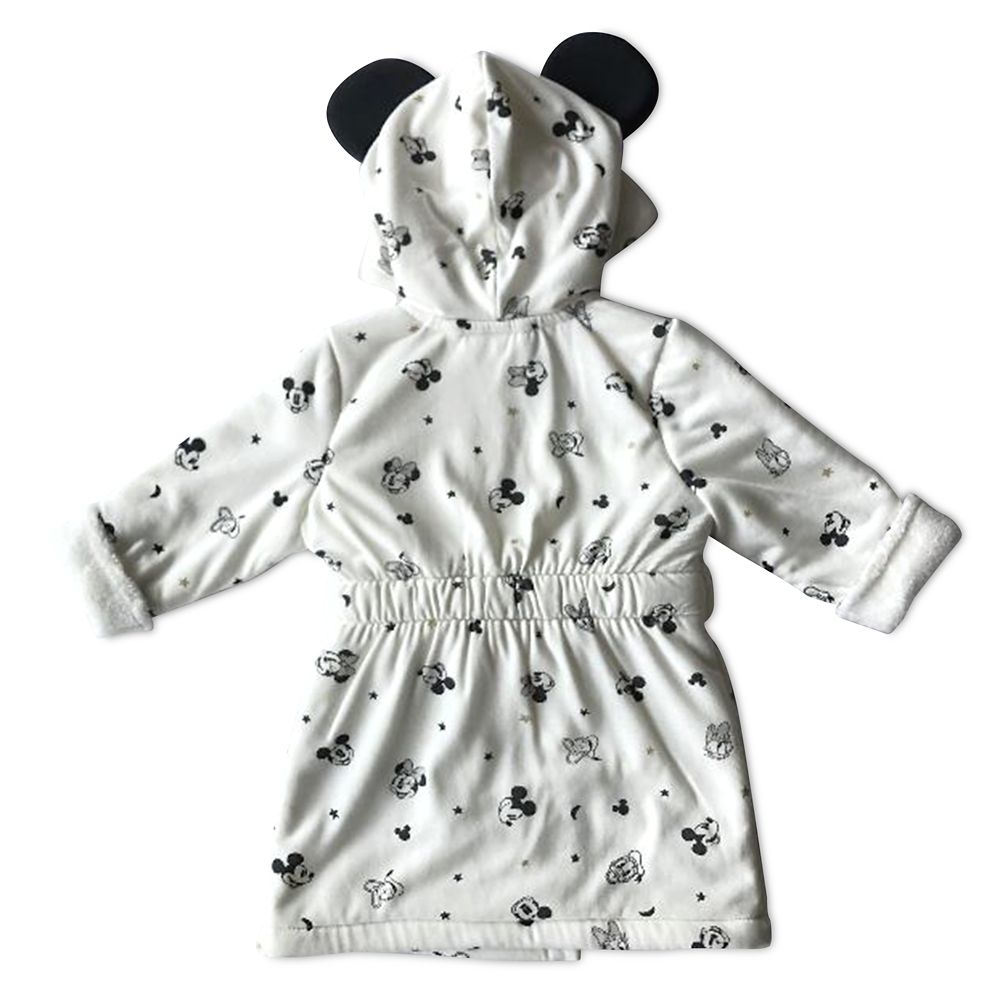 Mickey and Minnie Mouse Bath Robe for Baby