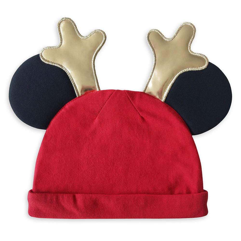 Mickey and Minnie Mouse ''My First Christmas'' Blanket and Hat Set
