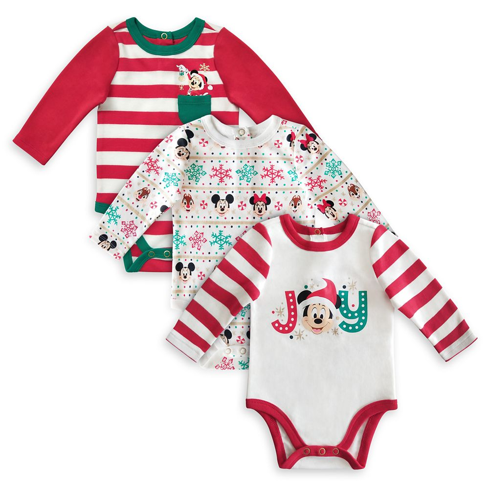 Mickey Mouse and Friends Holiday Bodysuit Set