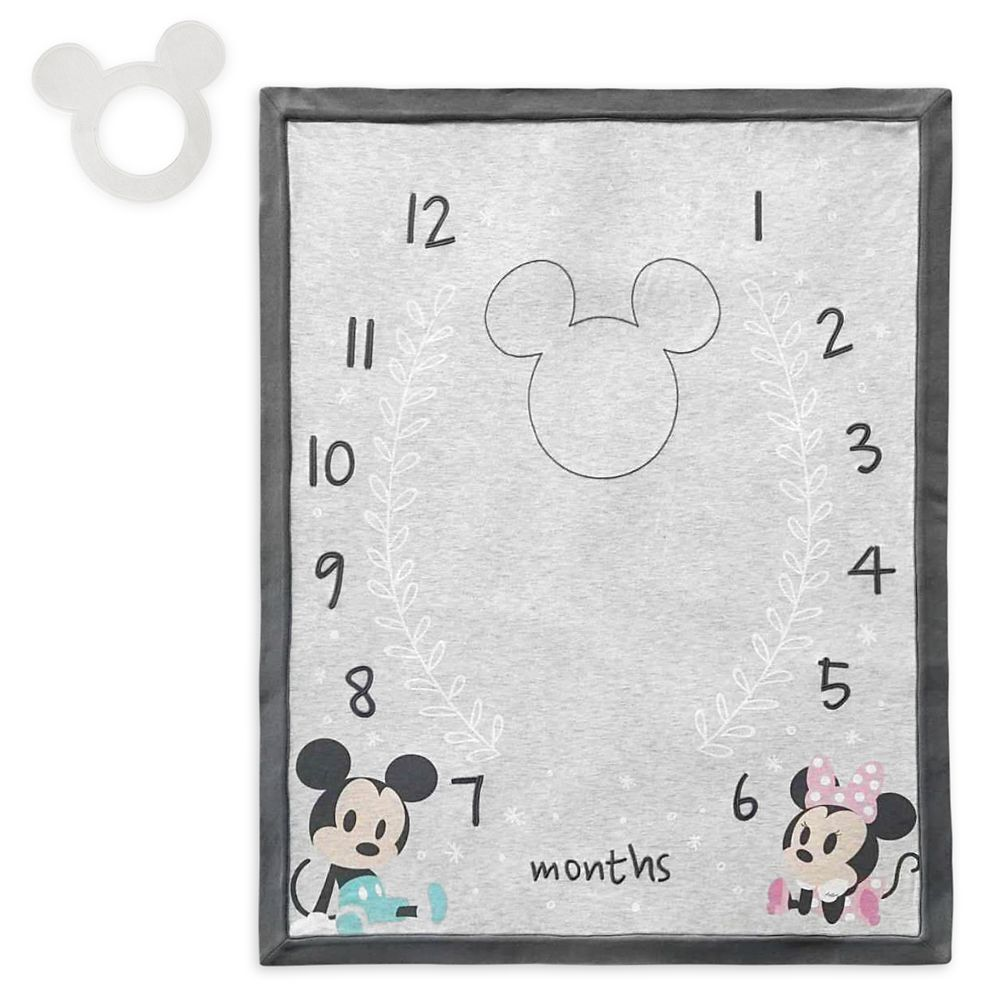 Mickey and Minnie Mouse Milestone Blanket Set for Baby