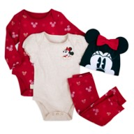 Minnie Mouse Holiday Bodysuit and Pants Set for Baby