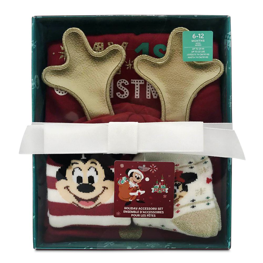 Mickey Mouse and Friends ''My 1st Christmas'' Beanie Set for Baby