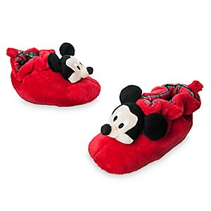Mickey Mouse Plush Holiday Slippers for Baby
