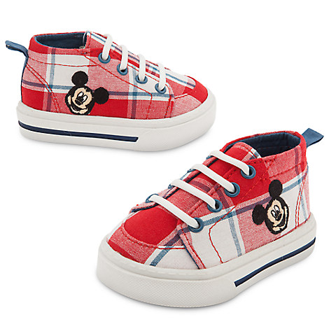 Mickey Mouse Plaid Shoes for Baby