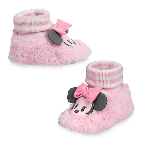 Minnie Mouse Plush Slippers for Baby