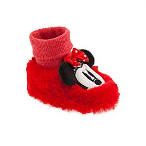 Image of Minnie Mouse Plush Slippers for Baby