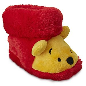 Image of Winnie the Pooh Plush Slippers for Baby