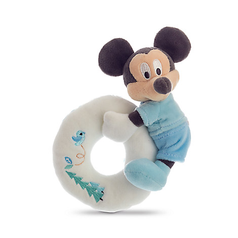 Mickey Mouse Plush Rattle for Baby