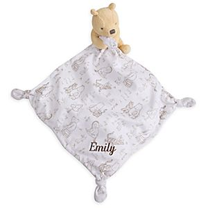 Winnie the Pooh Classic Plush Blankie for Baby - Personalizable