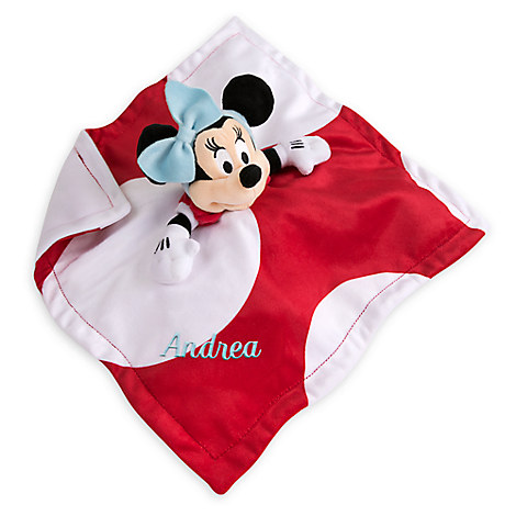 Minnie Mouse Plush Blankie for Baby - Personalizable