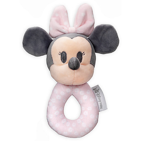Minnie Mouse Plush Rattle Ring for Baby