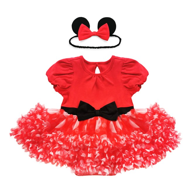 Minnie Mouse Costume Bodysuit for Baby – Red
