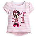 Minnie Mouse ''I Am 1'' Birthday Tee for Baby
