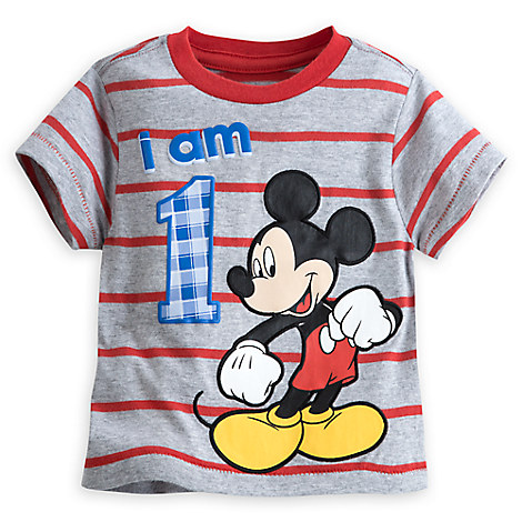 Mickey Mouse ''I Am 1'' Birthday Tee for Baby - Gray