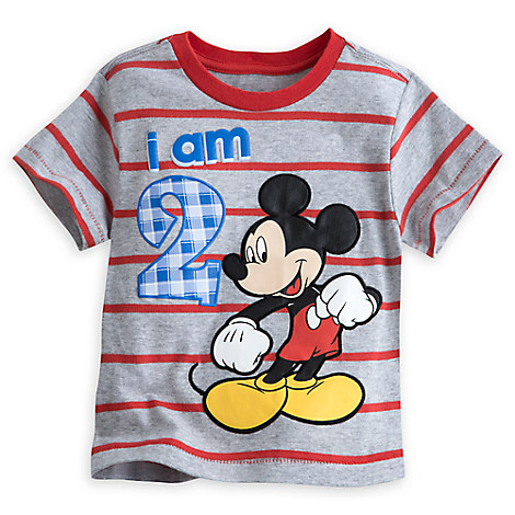 Mickey Mouse ''I Am 2'' Birthday Tee for Baby - Gray