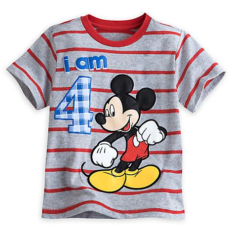 Mickey Mouse ''I Am 4'' Birthday Tee for Boys