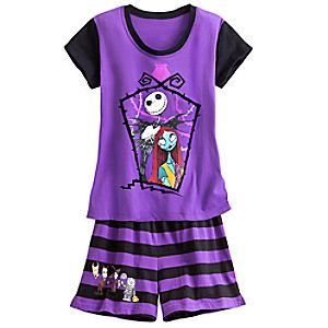 Jack Skellington and Sally Short Sleep Set for Women